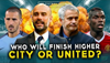 Man Utd or Man City - who will finish higher?!